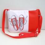Červená Crossbody kabelka