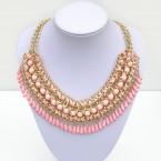 Ružový náhrdelník