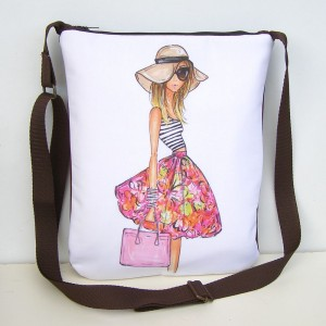 Hnedá kabelka Dievča