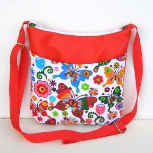 Malá Červená kabelka Crossbody